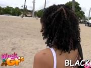 Black girl rides dick on closeup