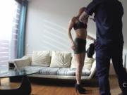 Slim amateur bangs fake cop indoor