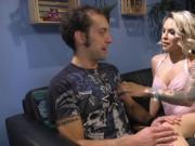 Big tits tranny lady anal fucks guy