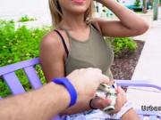 Horny voyeur bangs Latina teen for cash