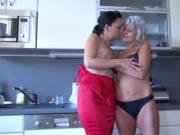 OldNannY Old and Young Lesbian Strapon Toy Play