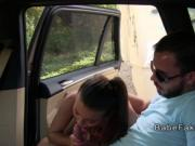 Female taxi driver takes big dick pov