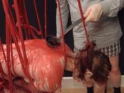 BDSM hardcore action with ropes and attractive sex