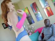 Hot redhead teen Alex Tanner gets her pussy slammed by
