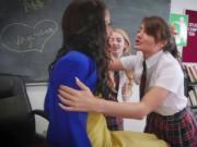 Bad lesbian students get a revenge to their teacher