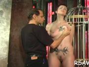 Slut gets rough spanking
