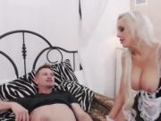 Busty blonde Nina Elle gets her ass fucked by Billy