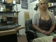 Busty babe Nina Kayy bangs Shawns cock in the office
