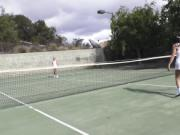 Latina tennis player fucking huge dick
