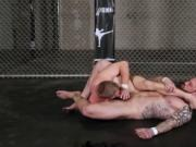 Jordan Levine wrestles down Scott Riley and fucks him b