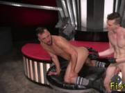 Big cock fisting anal gay Aiden Woods is on his back an