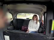 Fake taxi driver bangs skinny brunette