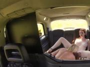 Busty cab driver eats blonde Milf lesbian