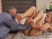 Old man spanks girl and fake taxi lady anal Surprise yo