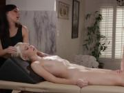Three babes Angela and Chloe with Whitney in hot pussy