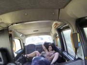 Slutty big boobied brunette fuck in taxi