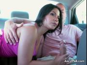 Hottie Rose Monroe Sucks Huge Cock Of Driver