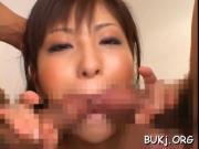 Wild bukkake porn at work