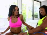 Ebony Sluts Monique And Anya Take Long White Cock