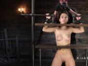 Petite slave in triple wooden stock