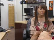 Chinese babe Tiffany Rain sucks and fucks huge cock