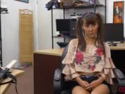 Slutty Asian Tiffany Rain shows her massive tits for mo