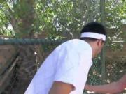 Sexy teen babe Rose Red gets fucked at the tennis court