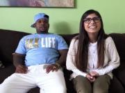 Black dude gladly bangs Arab teen