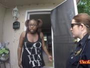 Smoking hot cops pleased with black dick
