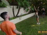 Petite teen Katya Rodriguez gets manhandled in threesom