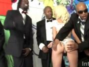 Blonde Jada Stevens Gang Banged By Black Rods