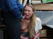 Alyssa Coles pussy fucked doggystyle by the LP Officer