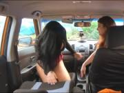 Lucia Love threesome sex during her driving lesson