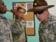 Army gay sexy men having free Yes Drill Sergeant!