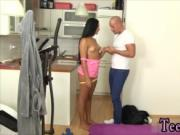 Muscle cumshot Obedient cleaning lady