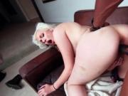 Sexy blonde pussy destroyed by big black cock