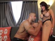 Black dude sucking shemle cock and rimming ass