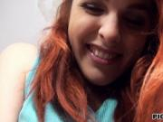 Pretty red haired Czech girl banged and facialed for mo