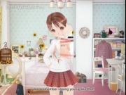 Innocent hentai sweetie showing undies upskirt