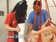Submissive BDSM sex with anus whore