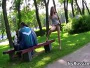 Russian Flashing In Public