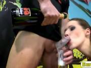 Brunette whore loves swallowing big loads of sperm