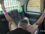 Cab driver fucks huge tits pornstar on security cams