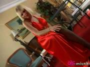 Courtney B looking gorgeous in slinky evening dress and