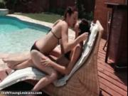 Horny lesbians go crazy lciking and rubbing their wet p