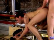 Naked men Working in a warehouse can be a laboriously w