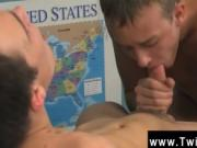 Hot gay scene The lad sitting behind the teacher's des