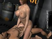 Hot chesty 3D hentai bitch fuck dick