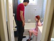 Pig tail redhead Dolly Little gets hammered by Largos b