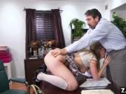 Dean Steve Holmes bangs Lena Pauls pussy on the desk